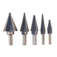 Free Shipping 5Pcs Cobalt Multiple Hole 50 Sizes Step Drill High Speed Steel HSS Bit Set