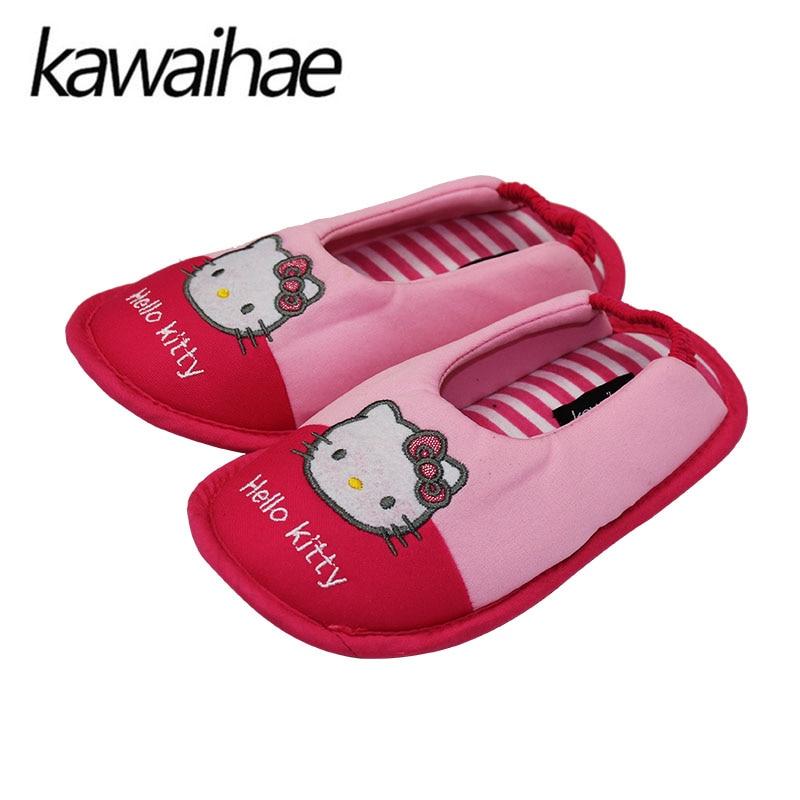 Hello Kitty Girls Slippers Comfortable Cotton Soft Bottom