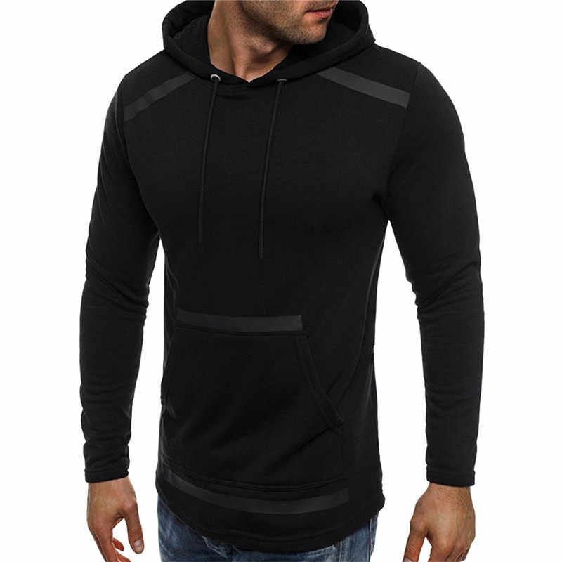 """Nowa moda męskie """"jesień zima z długim rękawem kieszeń polarowa bluza z kapturem znosić topy Dropship #0806"""