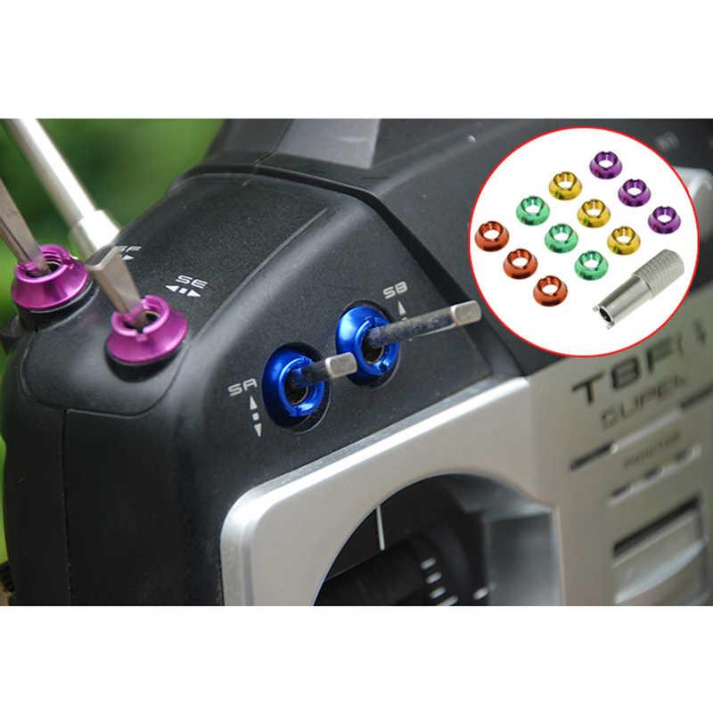 Звезда мощность радио управление передатчик переключатель цветная гайка для Futaba JR RC игрушки 12-шт с 1 шт. гаечный ключ