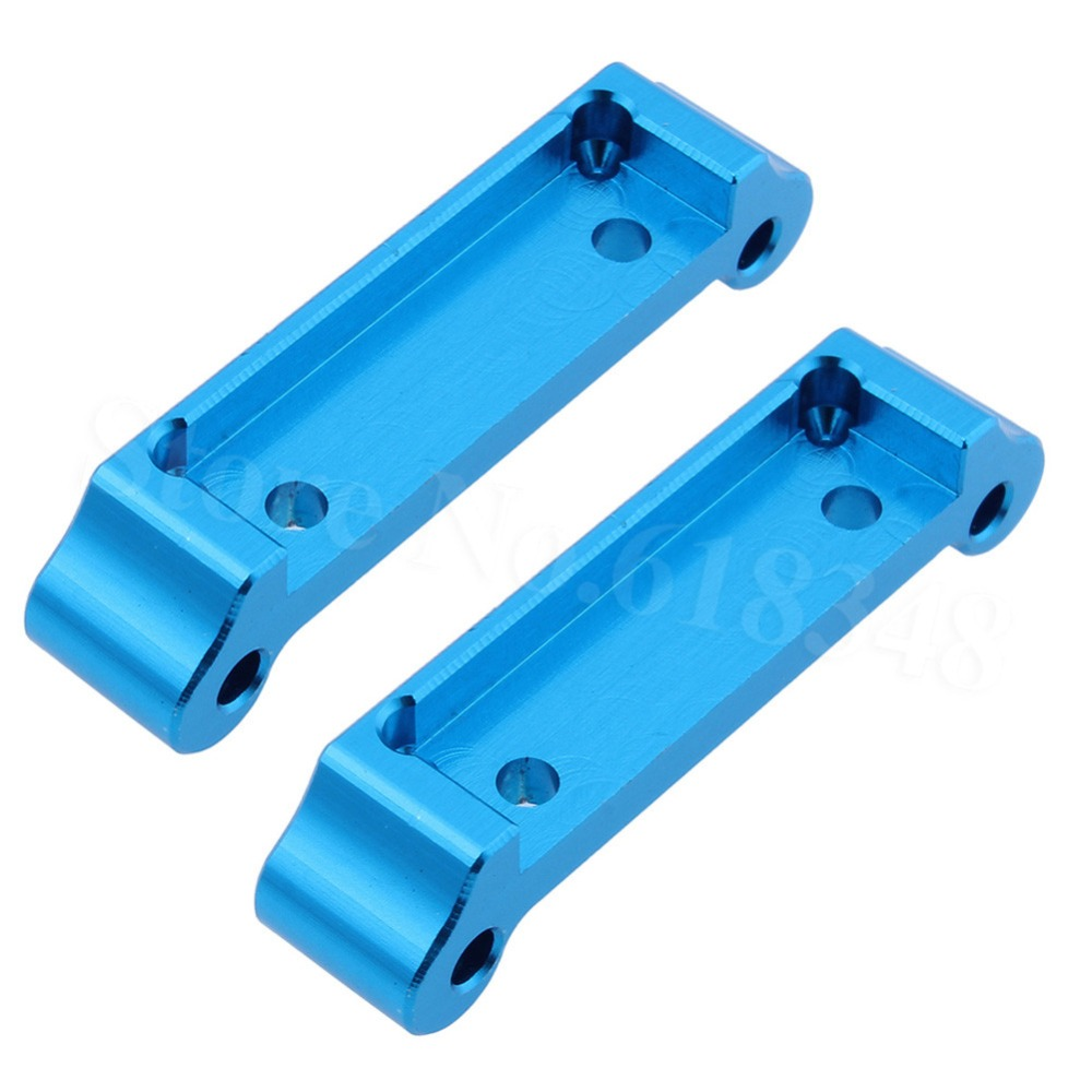 цена на Aluminum Front & Rear Arm Holder Mount Plate For 1/18 WLtoys A959 Upgrade Parts Fit A949 A969 A979 K929 RC Car