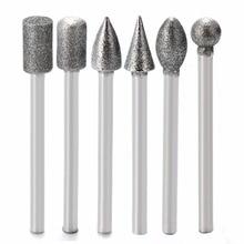 цена на 20Pcs Diamond Drill Bit 3mm Shank Diamond Grinding Heads High Strength Mini Drill Burrs Bit Set for Rotary Tool Mayitr