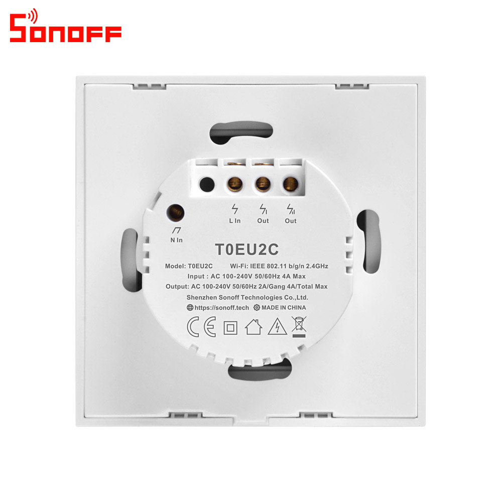 Image 5 - Itead Sonoff T0EU 86 1/2/3 gang TX Series Wall Touch Wifi Switch Remote Control Smart Home Switch Works With Alexa Google Home-in Home Automation Modules from Consumer Electronics