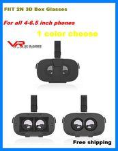 Fiit 2Nแว่นตาVRแว่นตา3Dเสมือนจริงชุดหูฟังvrboxหัวหน้าเมาวิดีโอgoogleกระดาษแข็งหมวกกันน็อคสำหรับ'-6.5 'phonesสำหรับhtc