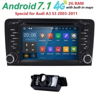 7 2Din Android 7.1 Car DVD Radio Player for Audi A3/S3(2003 2013) Stereo Multimedia Ouad 4 Core 2G RAM TPMS/OBD2/4G/GPS/WIFI/BT