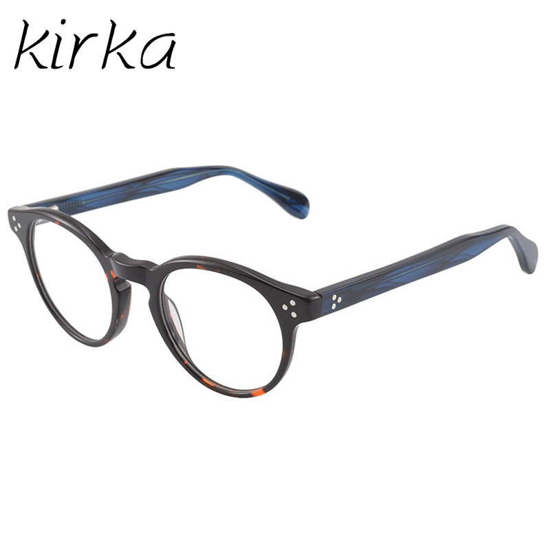 Kirka New font b Fashion b font Eyeglasses Retro Vintage Round Frame Optical Glasses Men Women