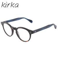 Kirka Nowy Mody Okulary Retro Vintage Round Ramka Okulary Mężczyźni Kobiety Krótkowzroczność Okulary Optyczne Rama Óculos de grau
