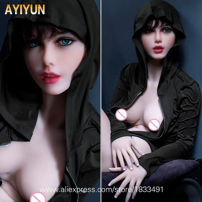 AYIYUN Top Qualité Silicone Poupées de Sexe avec Ossature Métallique, Pleine Taille Amour Poupées, japonais Poupée de Sexe Vagin Poupées Sexy pour les Hommes