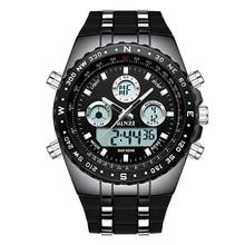 BINZI Top Brand Sport Quartz Wrist Watch Men Military Waterproof Watches LED Digital Watches Men Quartz Wristwatch Clock Male