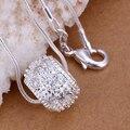 Cristal de la bola colgantes 925 mujeres collares 20 '' serpiente cadenas np024 para regalo de san valentín