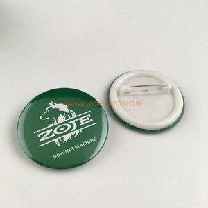 Image 3 - Badge à boutons personnalisé, 44x44mm, avec votre design, badge rond en fer blanc avec épingle, 20 pièces/lot