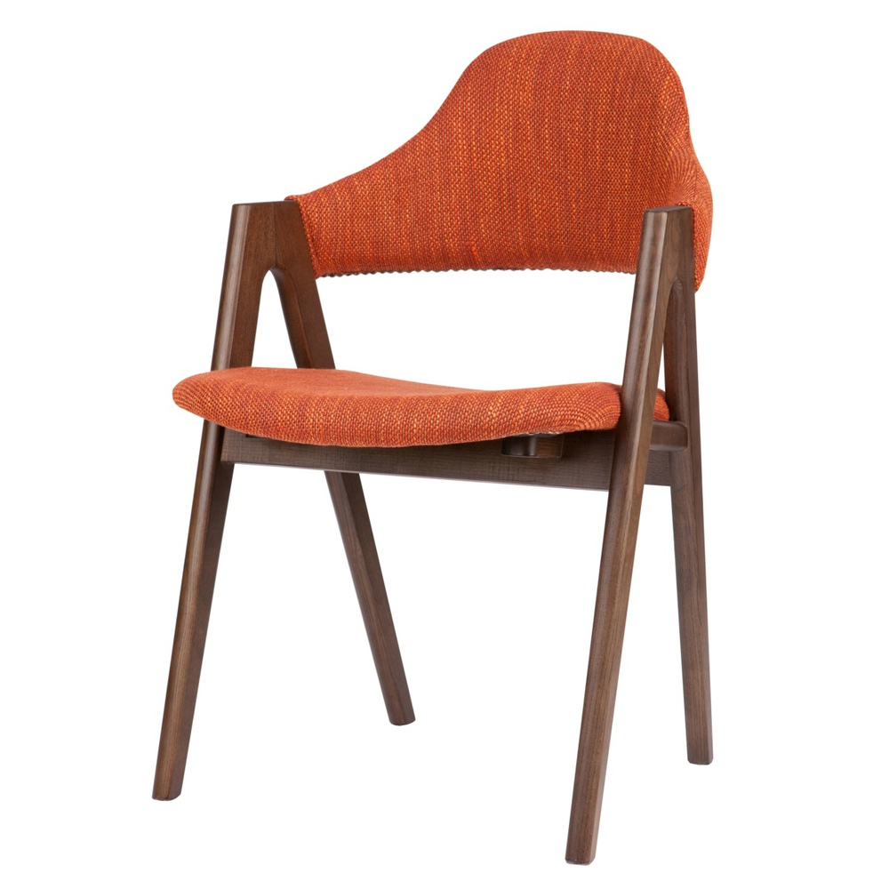 Ash wood chair dining chair fabric thailand stylish minimalist modern cafe bar restaurant chairs