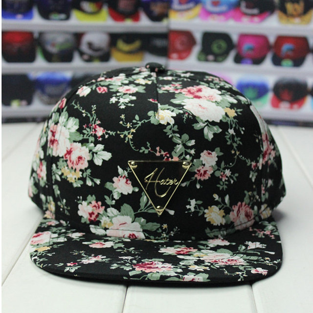 5 Panel Floral Snapback Hats Country Style Flower Printing Flat Adjustable  Fresh gorras Snapback 4bd1fc2dd76