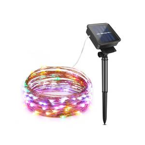 2M 5M 20M 10M Outdoor Solar Powered Copper Wire LED String Lights Waterproof Fairy Light for Christmas Garden Holiday Decoration