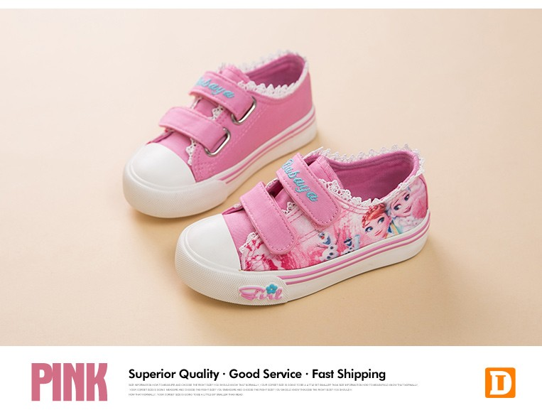 Princess Girls Shoes For Kids Fashion Elsa Anna Kids Shoes 2017 Ice Snow Queen Casual Denim Canvas Children Shoe Girl Sneakers 520 (6)