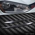 Cubierta de alta calidad decoración de fibra de carbono faro párpados de las cejas recortar 2 unids aptos para volkswagen golf7 mk7 2014 2015 2016