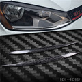 High quality Carbon Fiber decoration Headlight  Eyelids Eyebrows cover trim 2pcs Fit For Volkswagen Golf7 mk7 2014 2015 2016