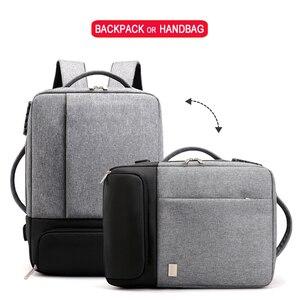 Image 2 - Mochila de viagem masculina, antirroubo 15.6 laptop Polegada bolsa masculina para notebook usb impermeável