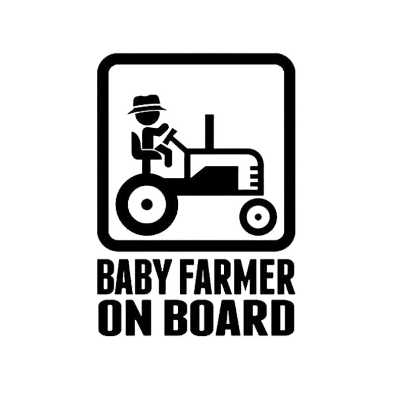 12,7 * 18 cm BABY FARMER NA BRODU Vinil Decal Creative Cartoon Warning Car Sticker naljepnica C1-4007