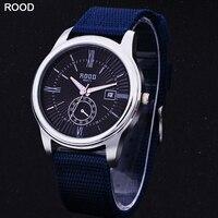Wristwatch Men S Fashion Quartz Watch Nylon Strip Simple Calendar Clock Function Gold Silver 3ATM Waterproof
