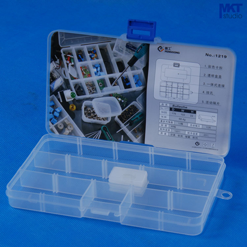 5Pcs 176mm*102mm*22mm Polypropylene PP Tools Container Storage Box, IC Box, Electronic DIY Tools