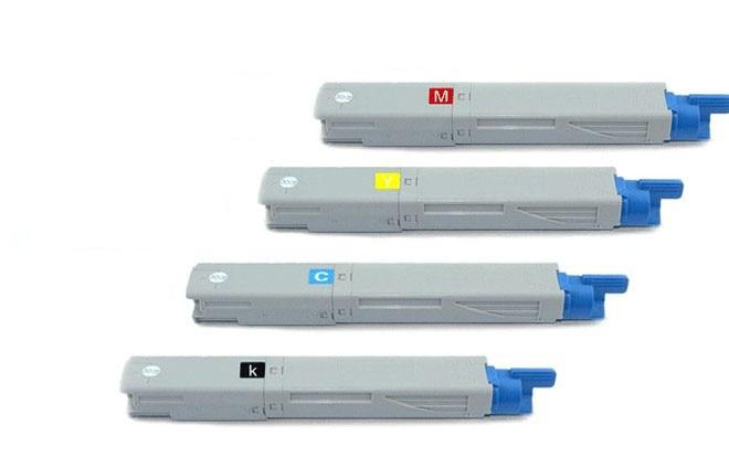 Freies verschiffen 4 teile/los Kompatibel Tonerkartusche Für OKI C3400 C3300 laserdrucker C3600...