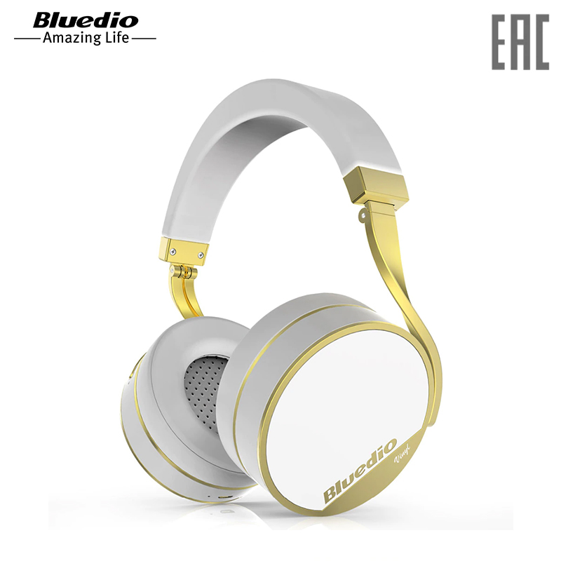 Headphones Bluedio Vinyl Plus White wireless