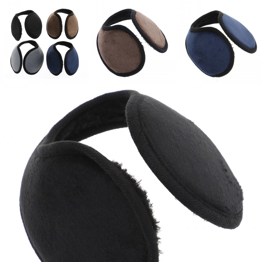 1PC Male Female Earmuff Solid Color Winter Ear Muff Wrap Band Earlap Black Coffee Gray Blue Ear Warmer For Women Men