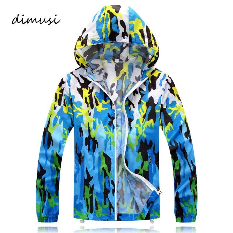 DIMUSI Quick Dry Men Windbreaker Skin Jackets Summer Sunscreen Camouflage Mens Army Outwear Ultralight Breathable Coats,TA105