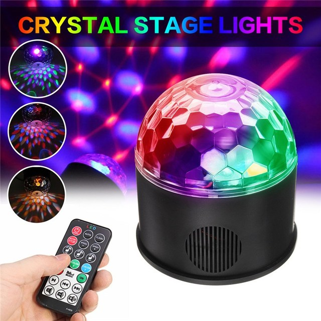 Smuxi 9W Bluetooth LED Disco Ball Light Remote Control Music Ball Stage  Effect Soundlights DJ Magic
