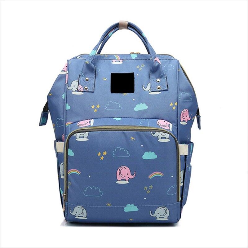 Large Capacity Unicorn Mommy Maternity Diaper Nappy Bag Printed & Solid Wet Bag Travel Backpack Desiger Nursing Baby Bag