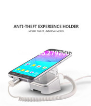Acrylic Cell Phone Retail Stand Magnetic Sticker Fix Alarm Charger Smartphone Holder Mobile Exhibition Anti-theft