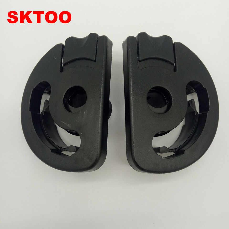 Sktoo Sepasang untuk Peugeot 307 Kursi Sandaran Tangan Plastik Gunung Picasso Sandaran Tangan Bracket/Sandaran Tangan Penyesuaian Batas Klip Gratis Pengiriman