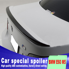 цена на 2005 2006 2007 2008 2009 2010 For BMW E60 M5 520 525 528 535 Spoiler tear trunk wing rear spoiler by ABS primer paint spoilers