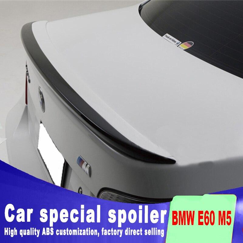 2005 2006 2007 2008 2009 2010 Pour BMW E60 M5 520 525 528 535 Spoiler déchirure tronc aile aileron arrière par ABS amorce peinture spoilers
