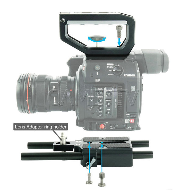 US $288 0 |CAME TV Top Handle And Base Plate Kit For Canon EOS C200 BS01-in  Photo Studio Accessories from Consumer Electronics on Aliexpress com |