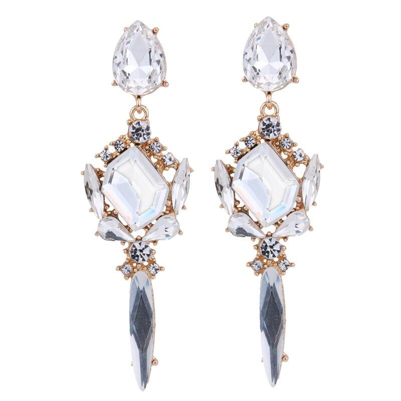 Best lady 2017 New Special Design Luxury Wedding Crystal Earrings ...