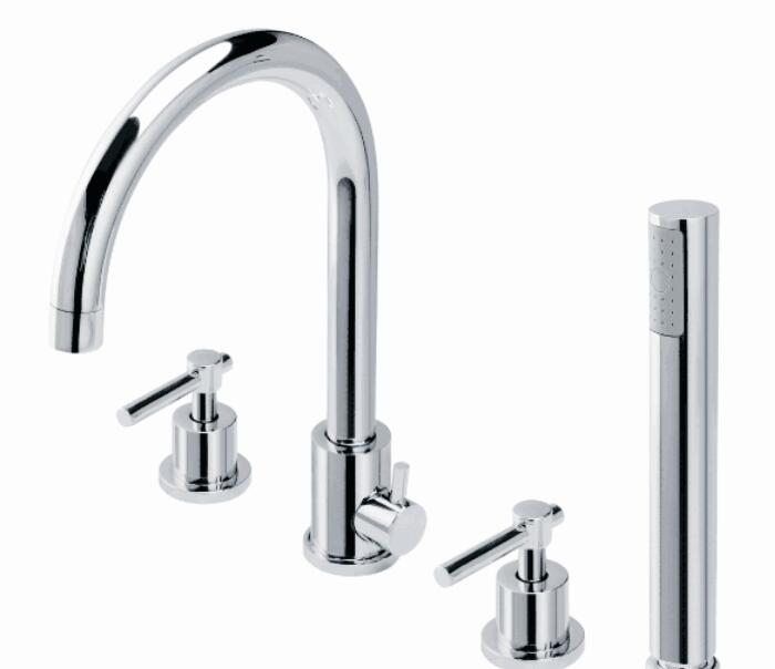 Free shipping four-piece Bathtub Faucet Full Three-hole Separation Split Bath Tub BF999