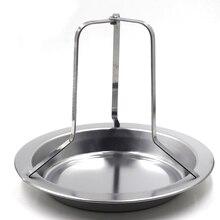 Нержавеющая сталь курица держатель пан вертикально пива жаровня Стойку Серебряный противень гриле жаркое для наружной кемпинг барбекю