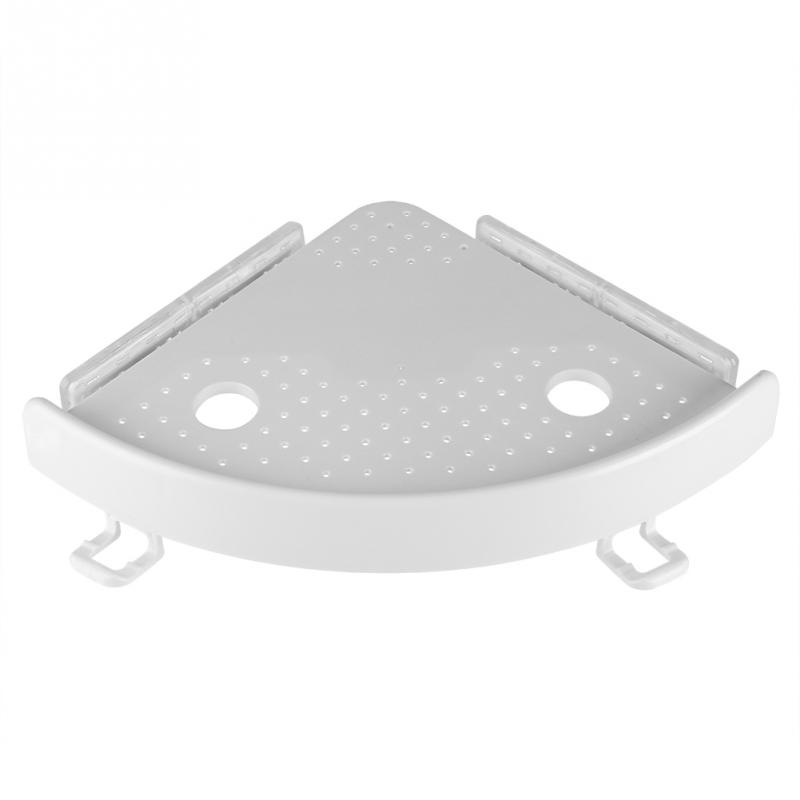 ABS Multi-function Bathroom Hook Kitchen Rack Corner Shelf Holder with PVC Suction Cup