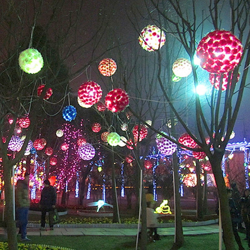 Big Outdoor Lights Led cherry blossom flower ball lights lamp flashing decorative led cherry blossom flower ball lights lamp flashing decorative string lights for fairy wedding home party garden indoor outdoor in led string from lights workwithnaturefo