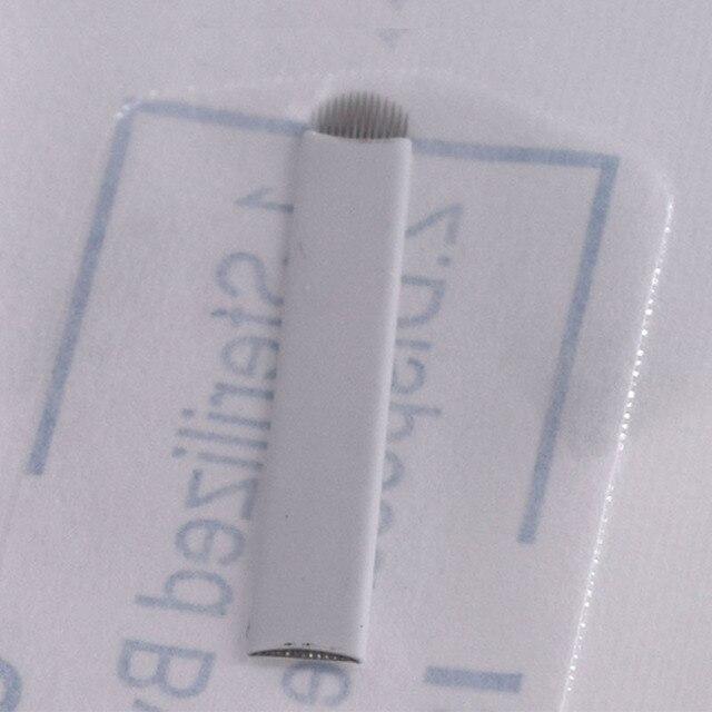 50 pcs Agulhas de Tatuagem Permanente da Composição da Sobrancelha Lâmina Microblading 14U lâmina Para 3D Bordado Manual Do Tatuagem Pen14 lâmina dura