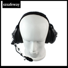 Latest heavey duty noise cancelling headset for kenwood two way radio  two pins