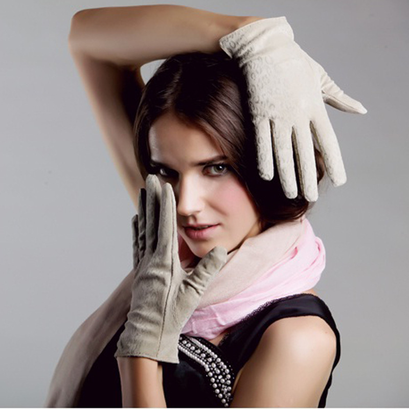 Guantes de Gamuza con Estampado de Leopardo Femenino Guantes de Cuero - Accesorios para la ropa
