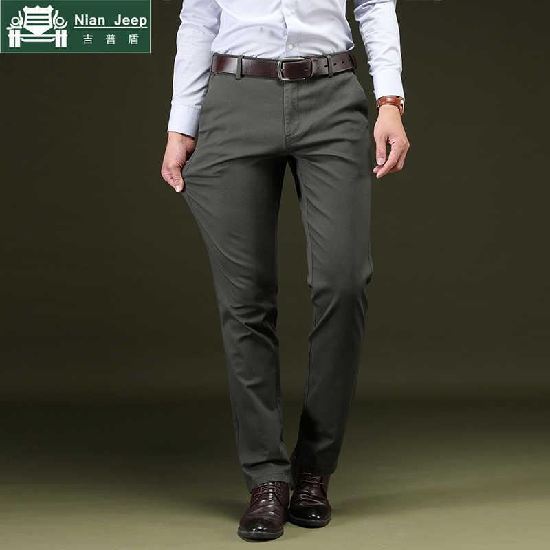 Descendencia orar En la madrugada  2020 New Casual Pants Men Brand High Quality Business Mens Trousers Cotton  Formal Clothing Male Plus Size 28 42 pantalon homme| | - AliExpress