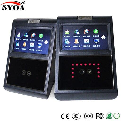 Dispositivo di Riconoscimento Facciale di Controllo di Accesso di Presenza TCP IP Biometrico Time Clock Recorder Impiegato Lettore Elettronico 5YAF5