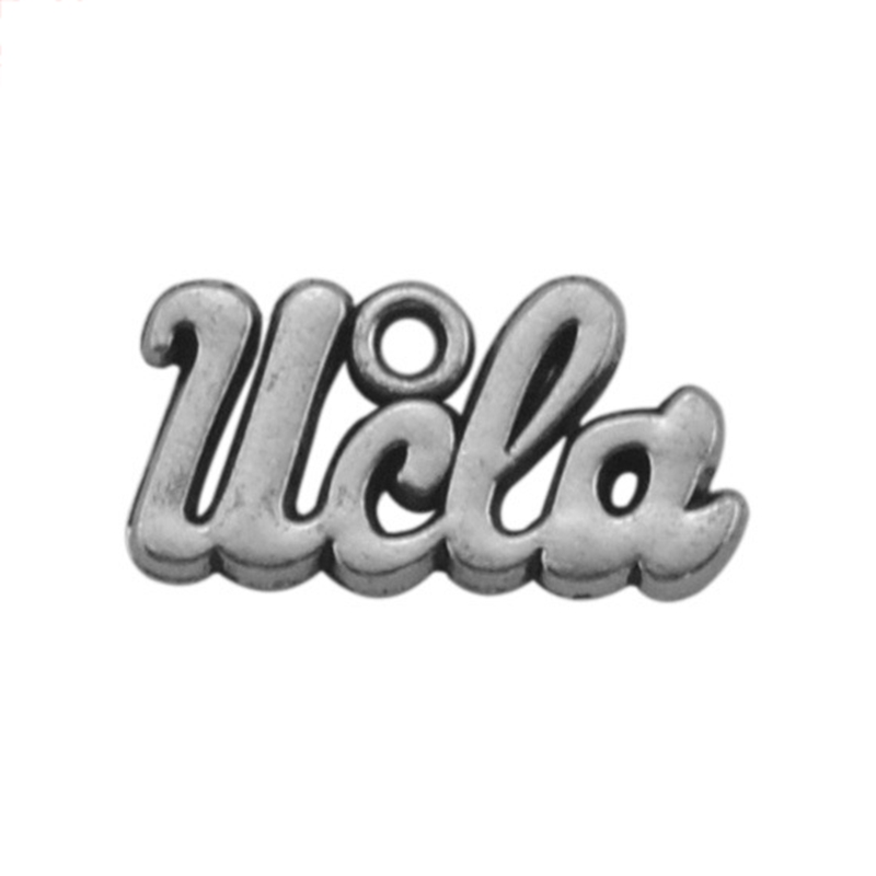 Antique Silver Letters <font><b>UCLA</b></font> Pendant Ancient Charms For Handmade Jewelry Bracelets Necklace Making DIY Accessories image