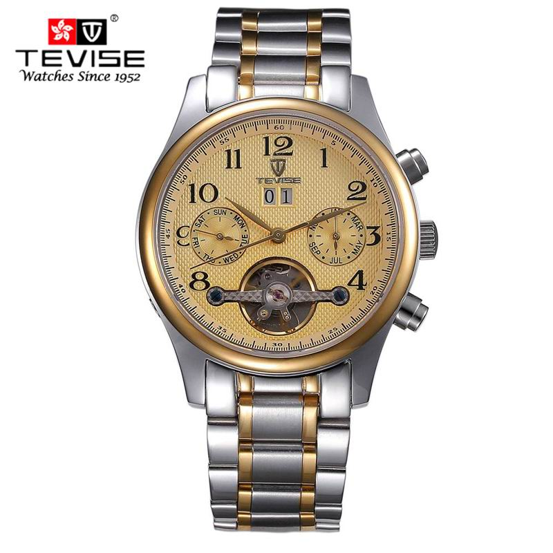 Hong Kong Luxury Brand Automatic Mechanical Watches Men Waterproof Tourbillon Watch Calendar Full stainless steel Wristwatch