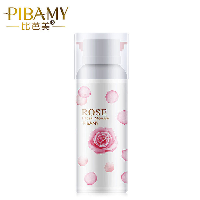 Rose Cleansing Foam Mousse Korea Cosmetic Skin Care Facial Clean Pores Moisturizing Brightening Oil Control Amino Acid Cleanser