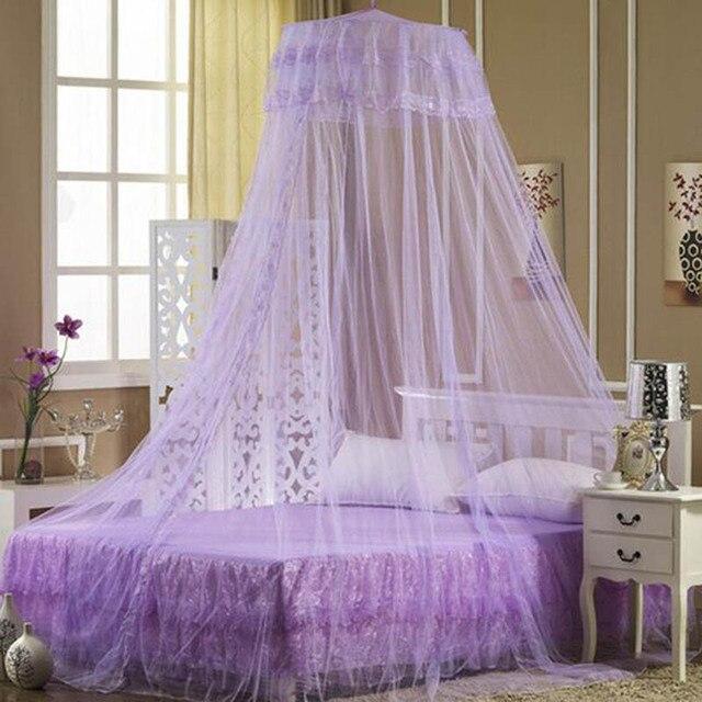 neue hing dome moskitonetze vorhnge betthimmel rund 3 farben prinzessin moskitonetz eintrig net moustiquaire para cama - Betthimmel Vorhnge